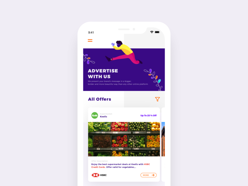 Offer Home Page branding iphonex tree bold font dark app illuatration sri lanka bank offer credit card bank advertisement mobile vector art offer