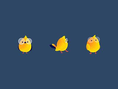 Campaign bird product design web application design charater yellow message bird bird illustration art illustration campaign