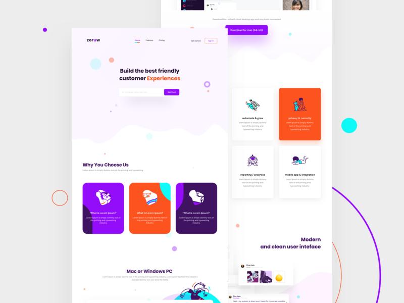 Customer Engagement Platform - Landing Page sketch brand design product page customer care chat voice engagement webdesign landingpage sass