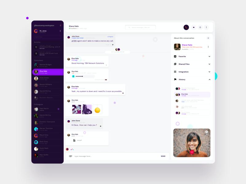Communication Collaboration Platform communication club web app design webdesign platform voice collaboration videocall chat video call