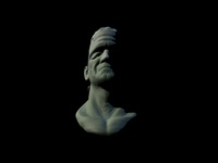 B Movie Monster Figure Study - Frankenstein