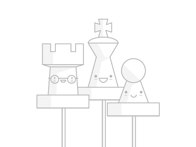 Illustration Chess Strategy happy knight king cute funny manga chess illustration