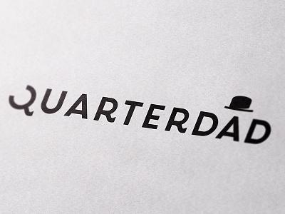 Quarterdad Logo letter design logotype magazine father illustration hat font type dad logo