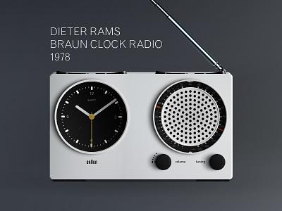 Dieter Rams Braun Clock 1978 braun mockup design clock radio download ressources sketch free dieter rams rams dieter