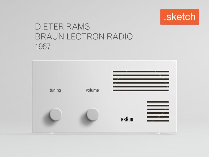 Dieter Rams Braun Lectron Radio 1967 design mockup radio lectron braun file sketch free rams dieter dieter rams