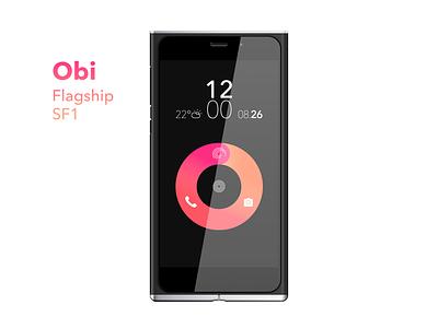 Obi Flagship SF1 Free Sketch ui gradient sketch material android mobile sf1 mockup free flagship obi