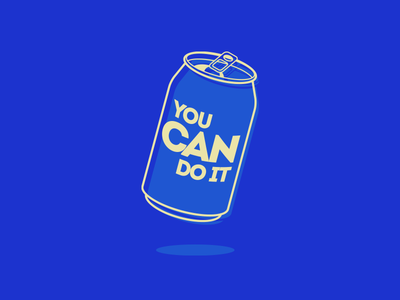you can do it you can do it do it quibble wordplay pun motivation drink beverage aluminium can