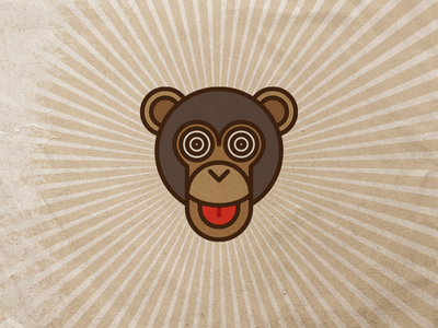 ov logo google translate crazy ape monkey design logo band