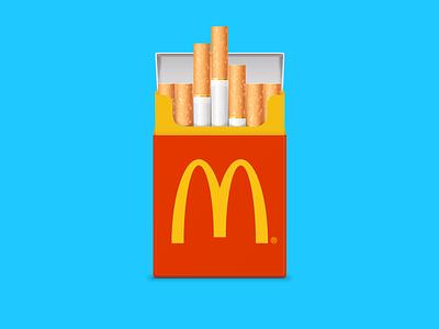 i'm smokin' it smoking kills bad habit fastfood mcdonalds smoking pack cigarette