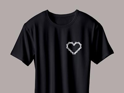 velo love t-shirt minimalism chain love heart bicycle bike