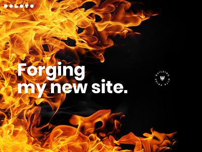 Forging my new site fibre flame semplice new web portfolio site forge fire