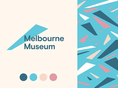 Melbourne Museum Concept melbourne flat concept rebranding rebrand logo
