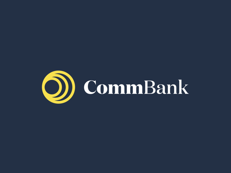 Commonwealth Bank Concept flat logotype australia rebrand bank logo