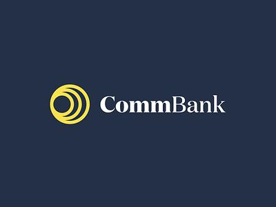 Commonwealth Bank Concept flat logotype australia rebrand bank logo