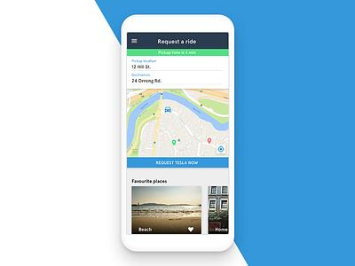 Ride-Sharing App android ios app ui ux car material sharing ride lyft uber tesla