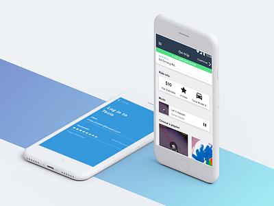 Ride-Sharing App Prototype app ios android tesla uber lyft ux ui mobile