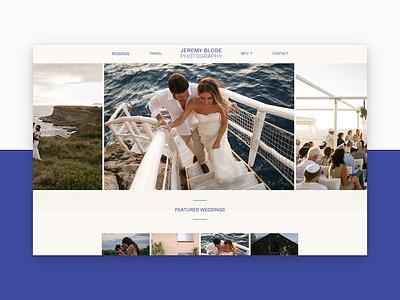 Jeremy Blode Photography wedding portfolio ui photos website photography