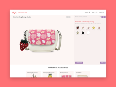 Little Designer Club store bag ui custom shop e-commerce