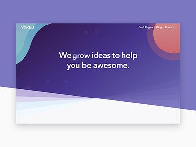 Verbb animate water craft portfolio website gradient ui
