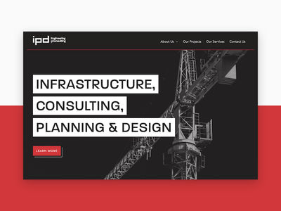 IPD Consulting website ui craft engineering consulting wip