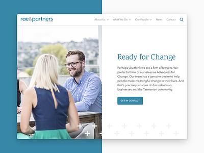 Rae & Partners firm clean minimal modern lawyer law website ui