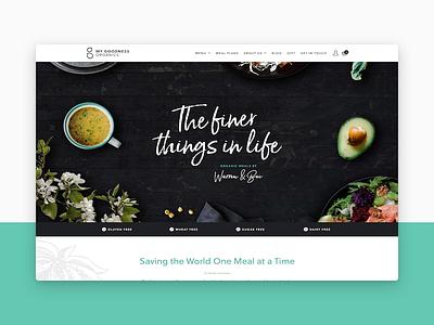 My Goodness Organics portfolio organic food ecommerce ui