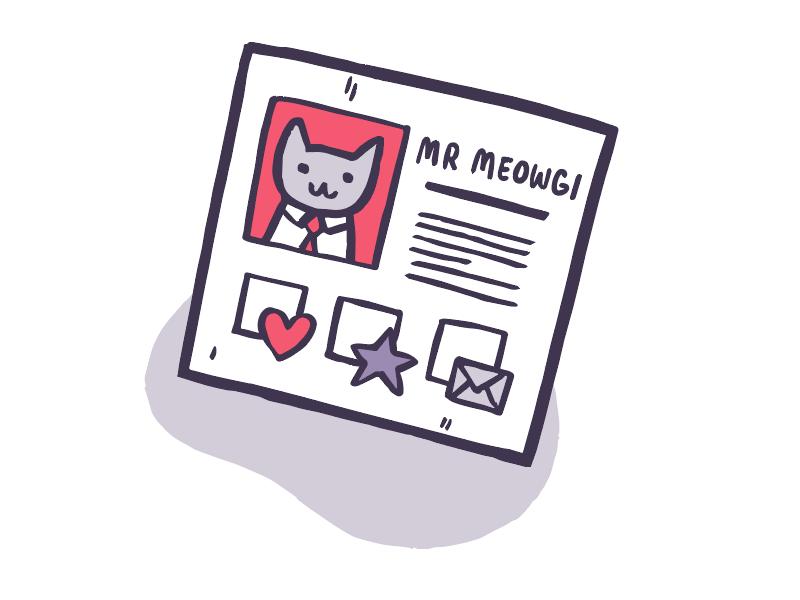 Mr Meowgi's profile experiment user icon illustration