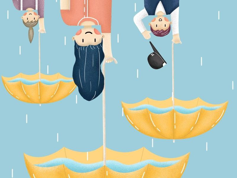 rain banner design interesting water rain