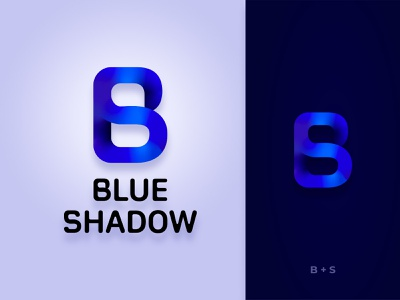 Blue Shadow Logo vector shadow blue gradient logo combined brand