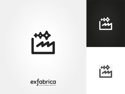 ExFabrica Logo vector lined logo icon brand stars factory