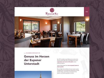 Restaurant Vise  Onepager onepager webdesign