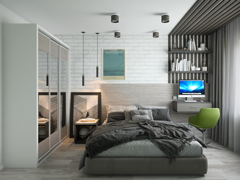 Bedroom, Interior design, 3d rendering design 3d render interior design 3d visualization 3dsmax 3d rendering