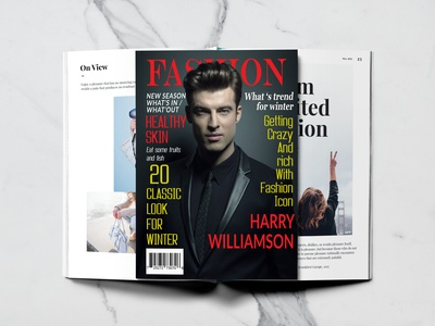 Fashion Magazine cover page