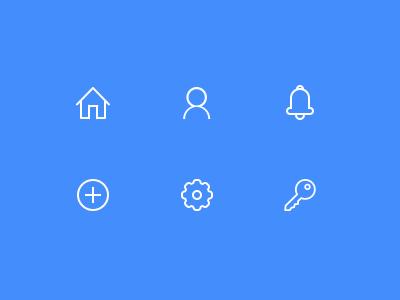 iOS App icons toolbar icons housing.com 2px-stroke interface ipad app-ui
