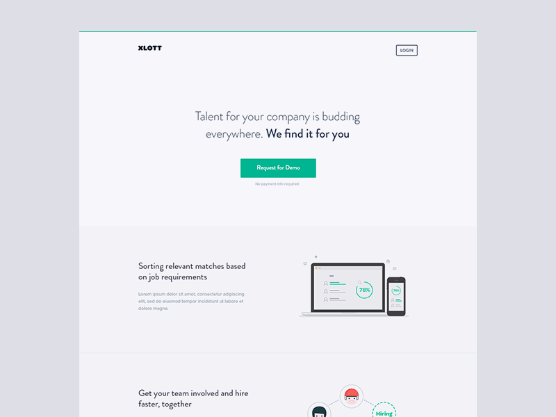 landing page - early draft india marketing minimal web landing page web-app brandon grotesque interface