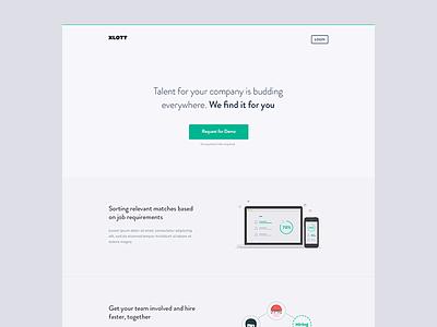 landing page - early draft india marketing minimal web landing page web-app brandon grotesque interface