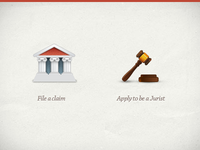 Community court icons.