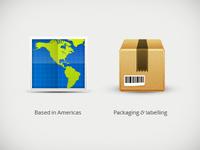 Logistics brand icons