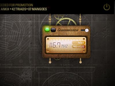 Incoming !  radio transmitter retro steampunk industrial grunge web interface game rpg
