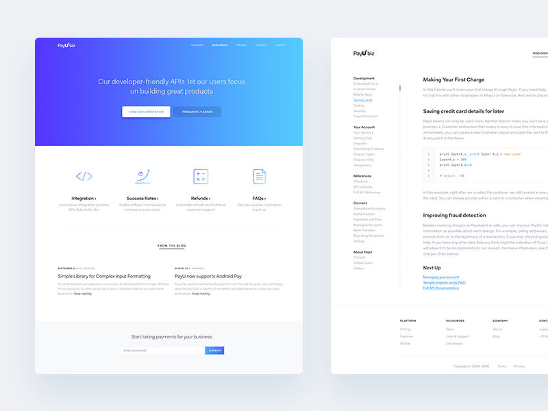 Developer docs docs minimal fakt-pro gradients web landing-pages india payu
