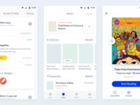 Worldreader app wireframes