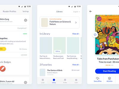 Worldreader app wireframes non-profit india android wireframes read to kids worldreader