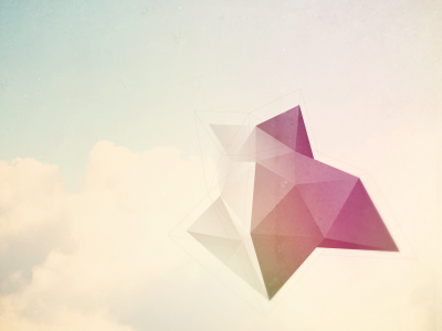 Future Elements Album Art. album art cover ambient abstract geometric shapes triangles personal projects polygons poly cubic art