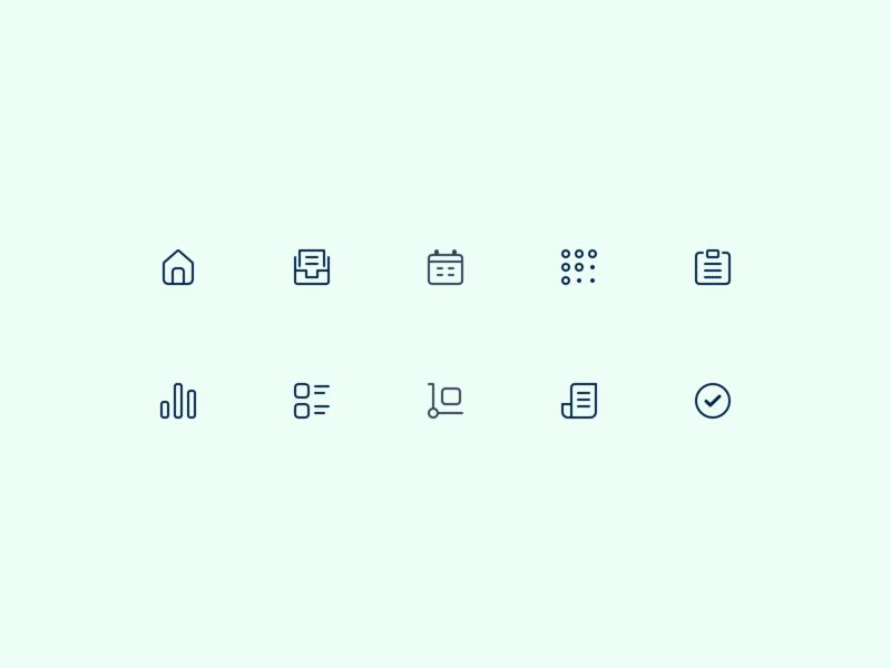 Navigation icons social imprints thincloud navigation dashboard 16px icons interface minimal