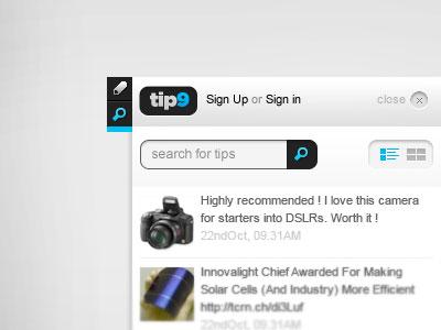 Widget - UI  widget ui interface blue clean minimal