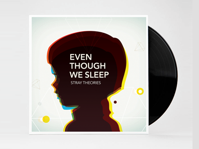 Even though we Sleep - Limited edition print  even-though-we-sleep vinyl disc print illustration avenir minimal abstract