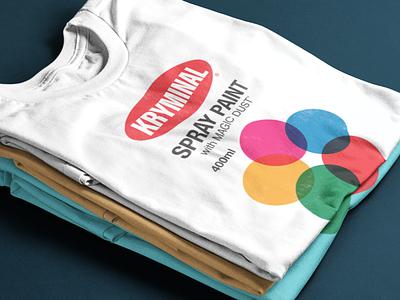 Smooth Kryminal mashup logo spraypaint spray can spray paint design t-shirt design t-shirt tshirt