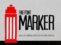 Fine Point Marker Font