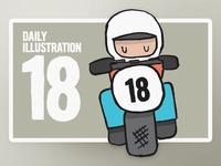 Daily Illustration 18 - Easy Rider