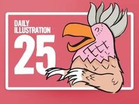 Daily Illustration 25 - The Bird One